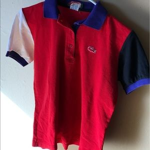 Vtg women's Lacoste polo made in Japan size Medium